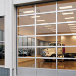 Commercial Rolling Door with Glass Panes